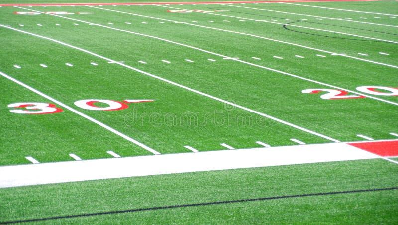Lignes du terrain de football 20 et 30 images stock