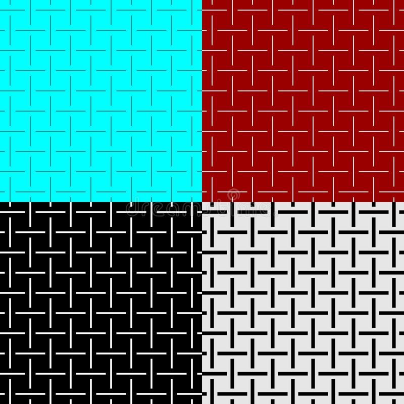 Lignes ensemble sans couture d'armure de modèle de largeur différente Textile de fils croisés comme des textures illustration libre de droits