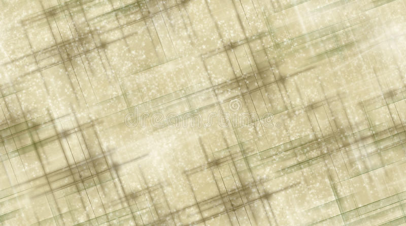 Lignes et étoiles de Brown illustration libre de droits