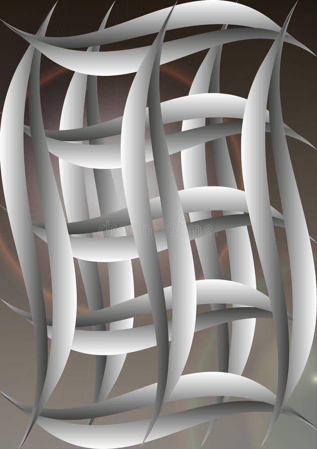 Lignes et boules abstraites de vecteur de fond photos stock