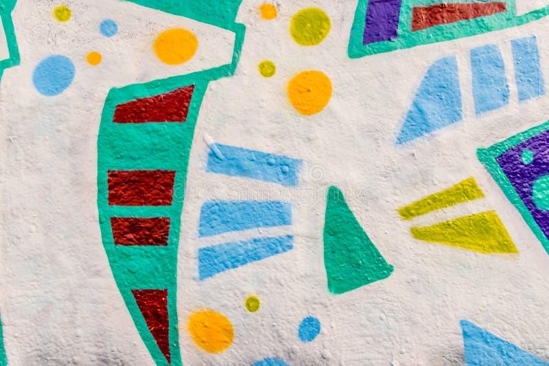 Lignes et couleurs de graffiti photographie stock