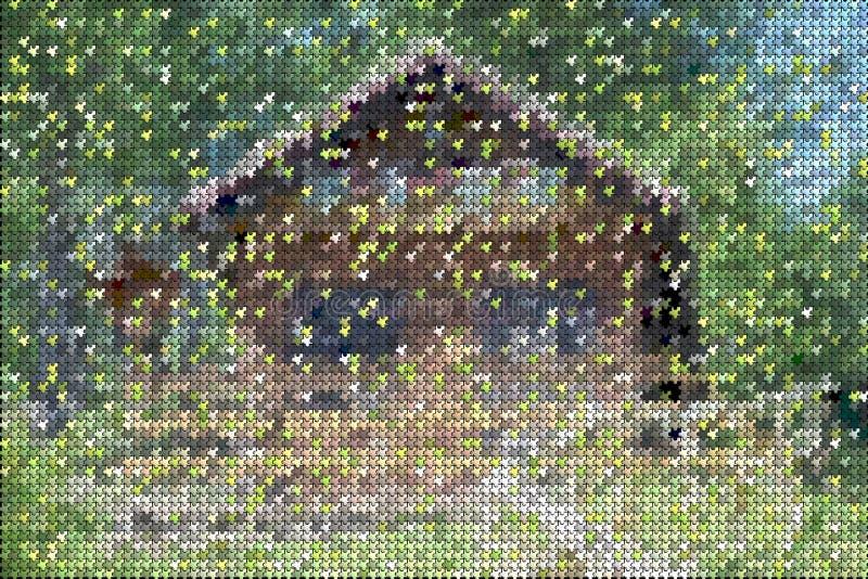 Lignes et formes colorées modèle, fond de puzzle photographie stock