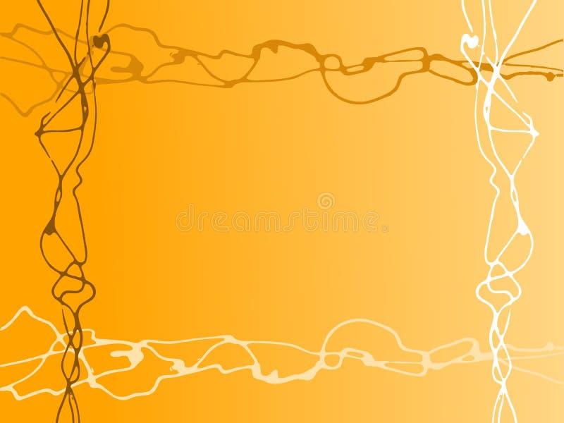 Lignes faites au hasard oranges illustration de vecteur