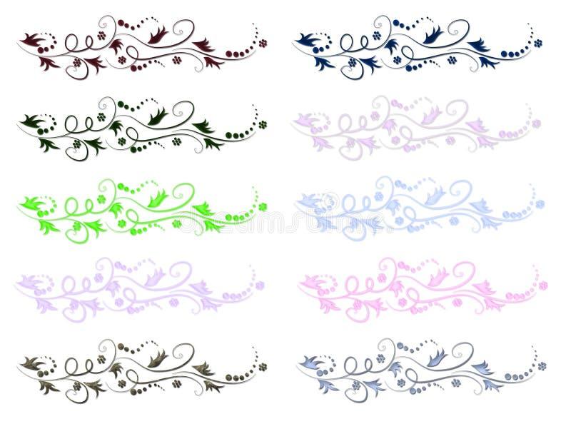 Lignes florales de défilement illustration de vecteur