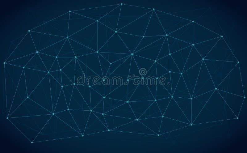 Lignes fond abstrait de vecteur de technologie illustration stock
