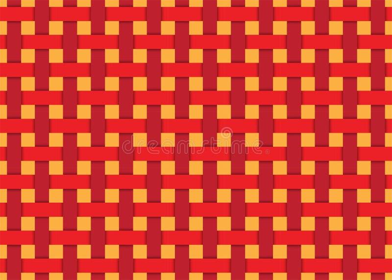 Lignes futuristes modernes oranges rouges fond sans couture de modèle Illustration de vecteur illustration de vecteur
