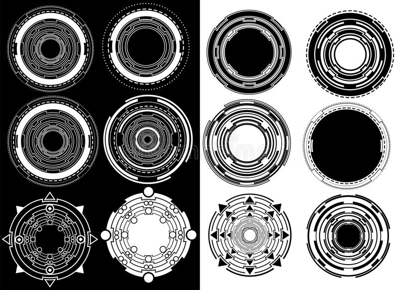 Download Lignes Géométriques Symbole De Forme De Cercle Illustration Stock - Illustration du étiquette, ornement: 45372256