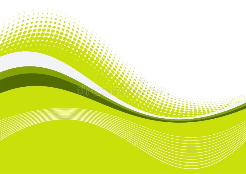 Lignes gracieuses ondulées vertes illustration stock