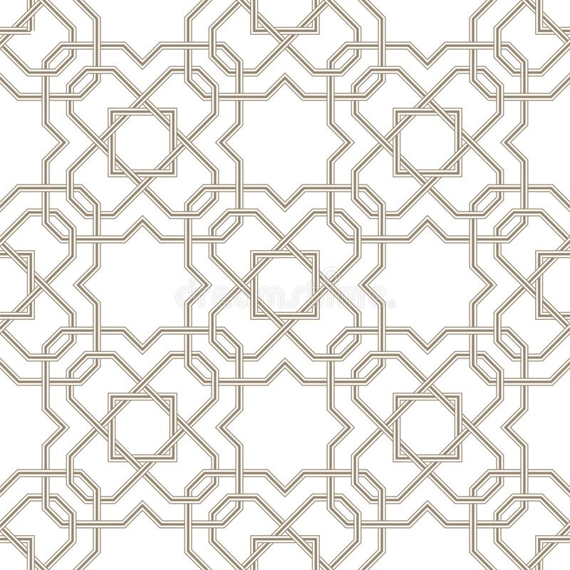 Lignes grises de profil sous convention astérisque de Pattern_01Islamic avec le fond blanc illustration de vecteur