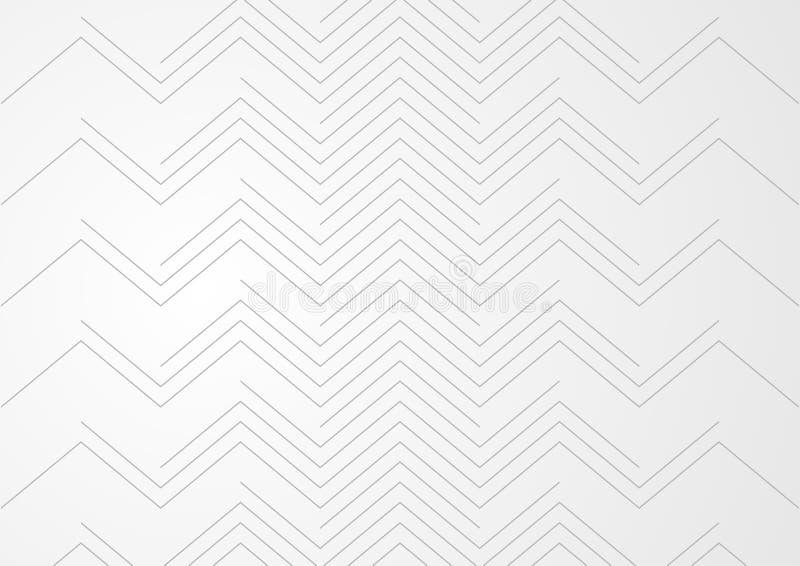 Lignes grises modernes conception de résumé de modèle de technologie illustration stock