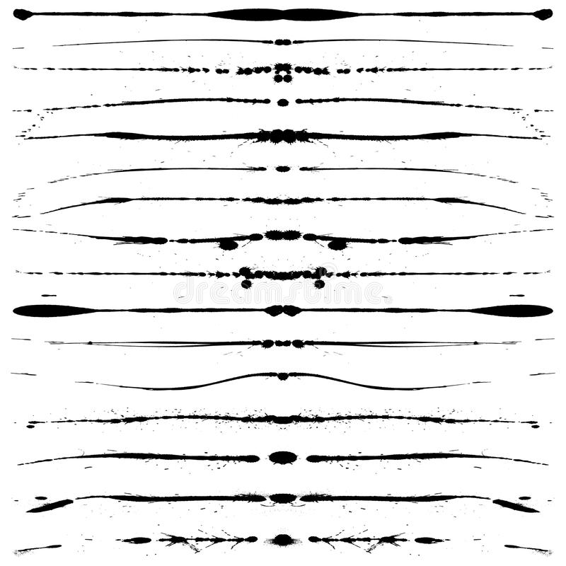 Lignes grunges illustration de vecteur