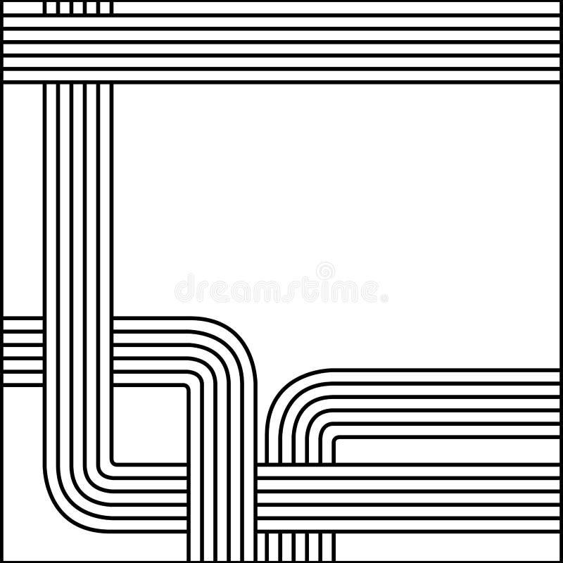 lignes icône d'abrégé sur silhouette de croquis rétros illustration de vecteur