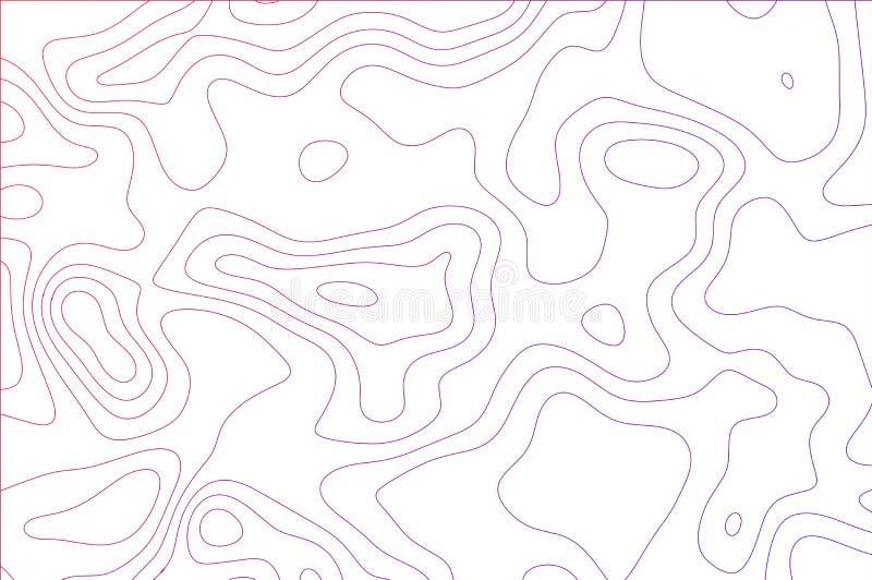 Lignes incurvées, illusion liquide de formes du mouvement, surface dynamique Couleurs lumineuses illustration libre de droits