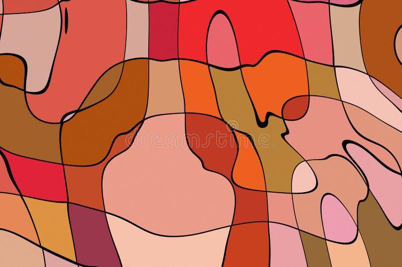 Lignes incurvées par style de bande dessinée d'illustration illustration de vecteur