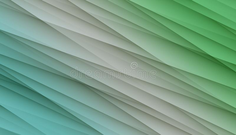 Lignes irrégulières diagonales vertes blanches bleues illustration abstraite de conception de fond d'angles illustration stock