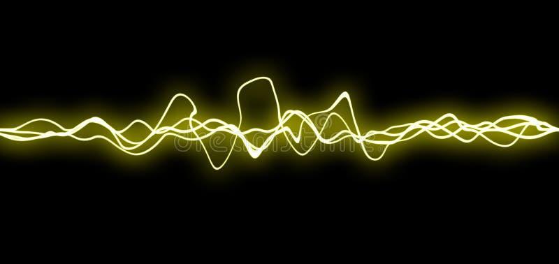 Lignes jaunes de fx photo libre de droits
