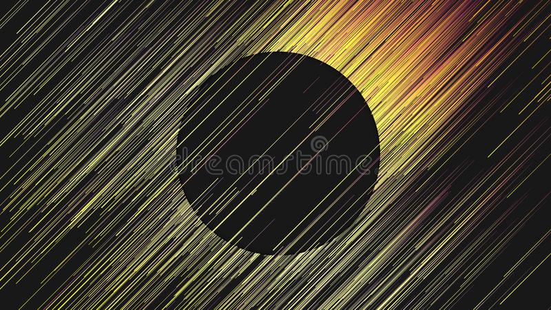 Lignes jaunes diagonales fond abstrait de Digital rendu 3d illustration libre de droits