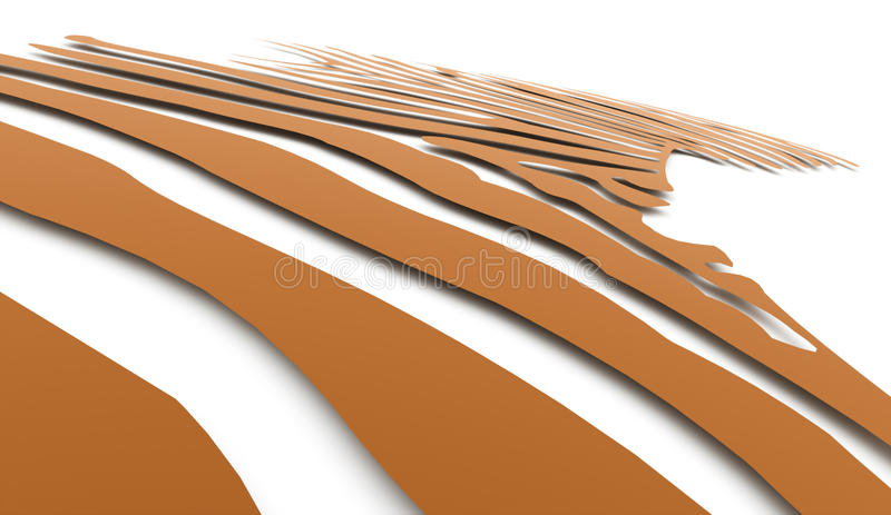 Lignes légères de torsion abstraite orange photos libres de droits