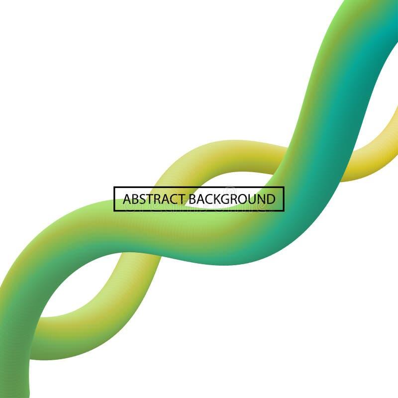 Lignes liquides abstraites de courbe dans la couleur vibrante illustration libre de droits