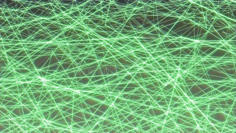 Lignes minimalistes vertes illustration de fond image libre de droits