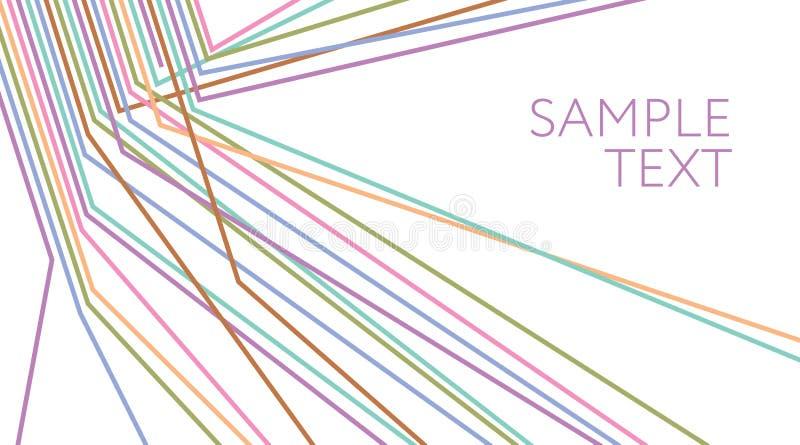 lignes multicolores fond abstrait Fil électrique illustration libre de droits