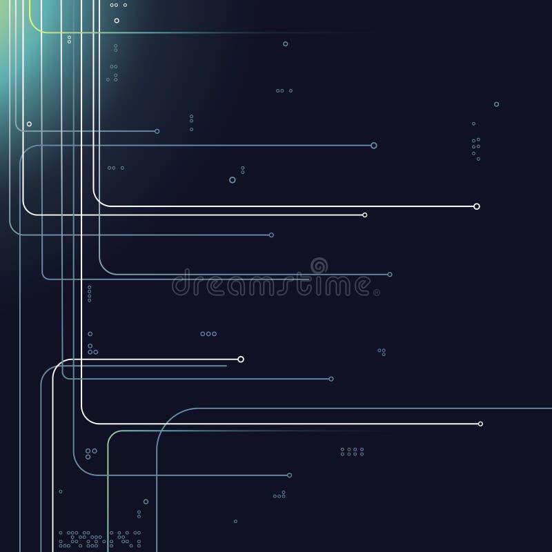 Lignes numériques illustration stock