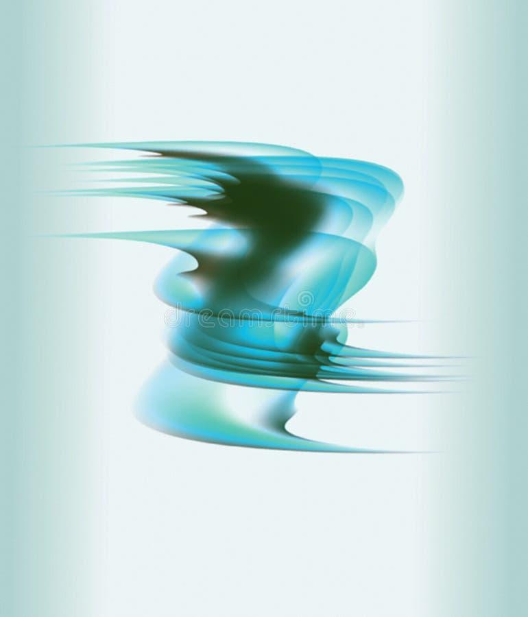 Lignes onduleuses doucement bleues et brunes en tant que fond abstrait illustration libre de droits
