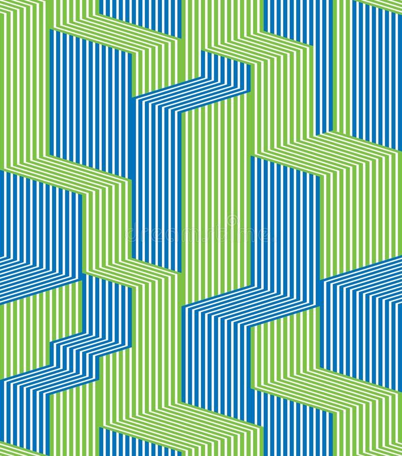 Lignes optiques modèle sans couture illustration de vecteur