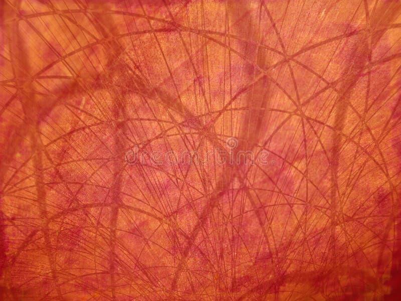 Lignes organiques rouges texture images stock