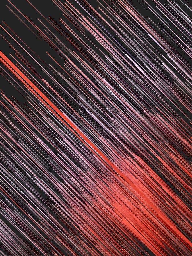 Lignes rouges diagonales fond abstrait de Digital rendu 3d photos libres de droits