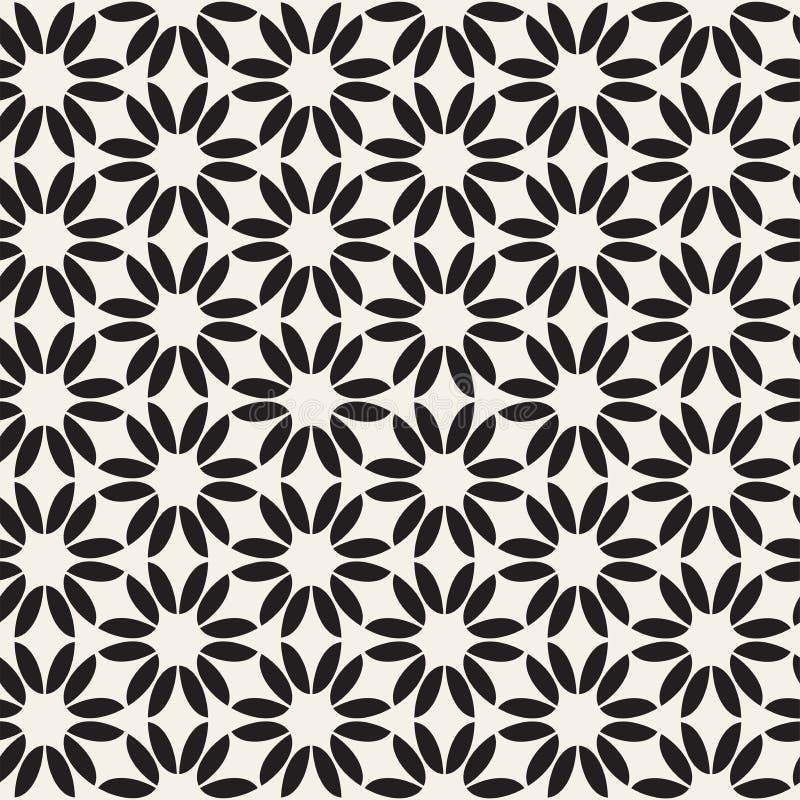 Lignes sans couture modèle de vecteur de mosaïque Texture abstraite élégante moderne Répétition des tuiles géométriques illustration libre de droits