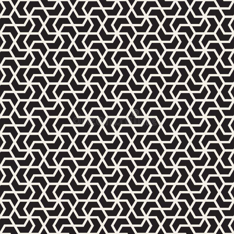Lignes sans couture modèle de vecteur de mosaïque Texture abstraite élégante moderne Répétition des tuiles géométriques illustration stock