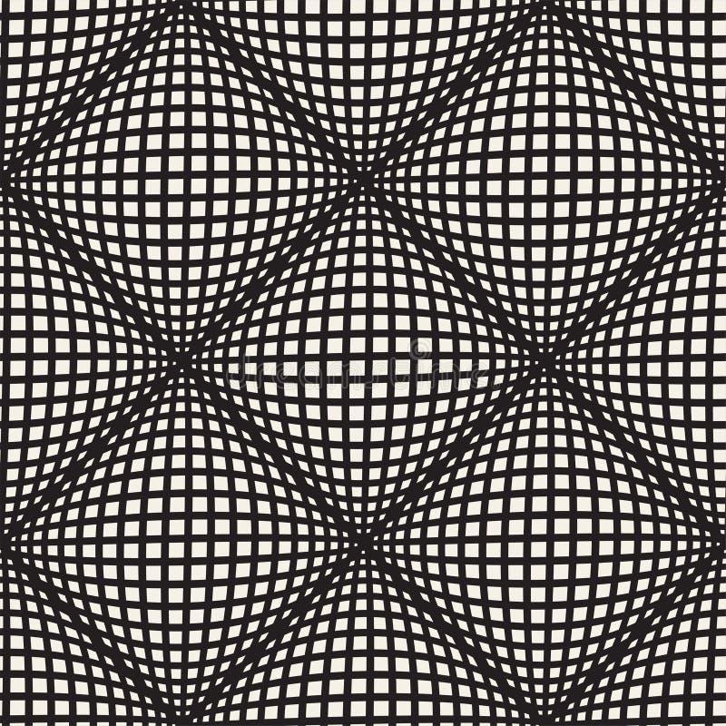 Lignes sans couture modèle de vecteur de mosaïque Texture abstraite élégante moderne Répétition de l'illusion optique géométrique illustration stock