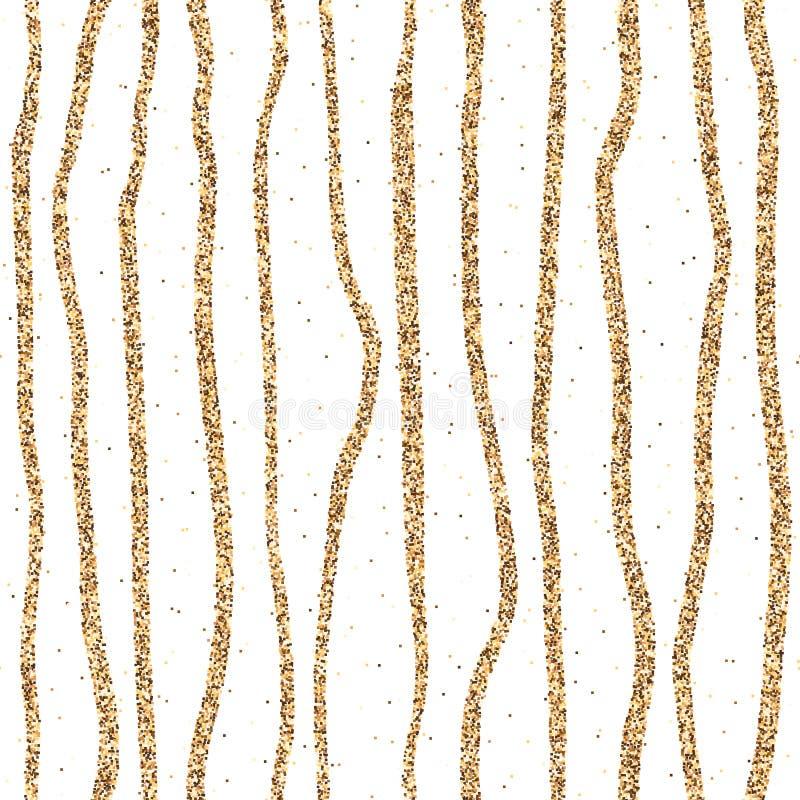 Download Lignes Tirées Par La Main De Scintillement D'or Illustration de Vecteur - Illustration du configuration, contexte: 87706104