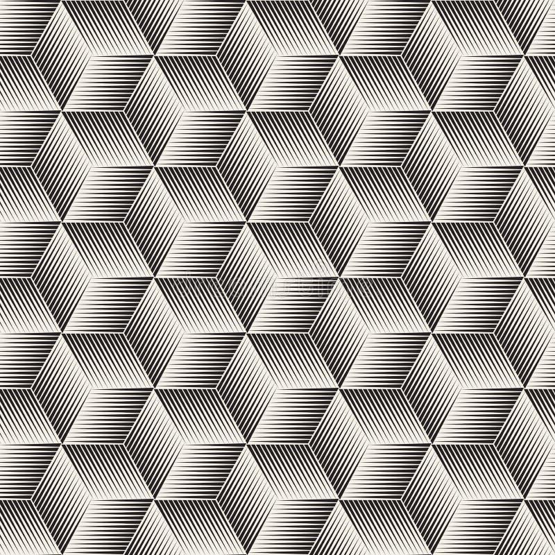Lignes tramées sans couture modèle de vecteur de mosaïque Texture abstraite élégante moderne Répétition des tuiles géométriques d illustration libre de droits