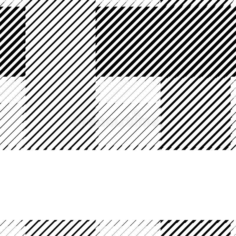 Lignes tram?es mod?le noir et blanc de carte binaire de r?tro fond illustration de vecteur