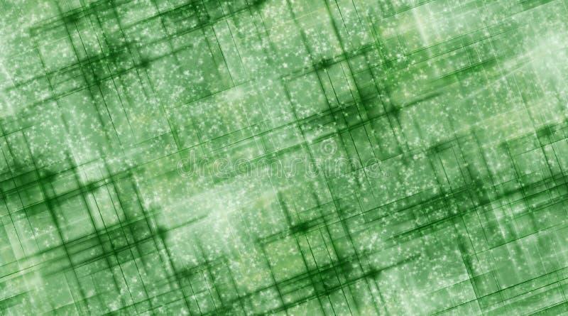 Lignes Vertes et neige illustration libre de droits