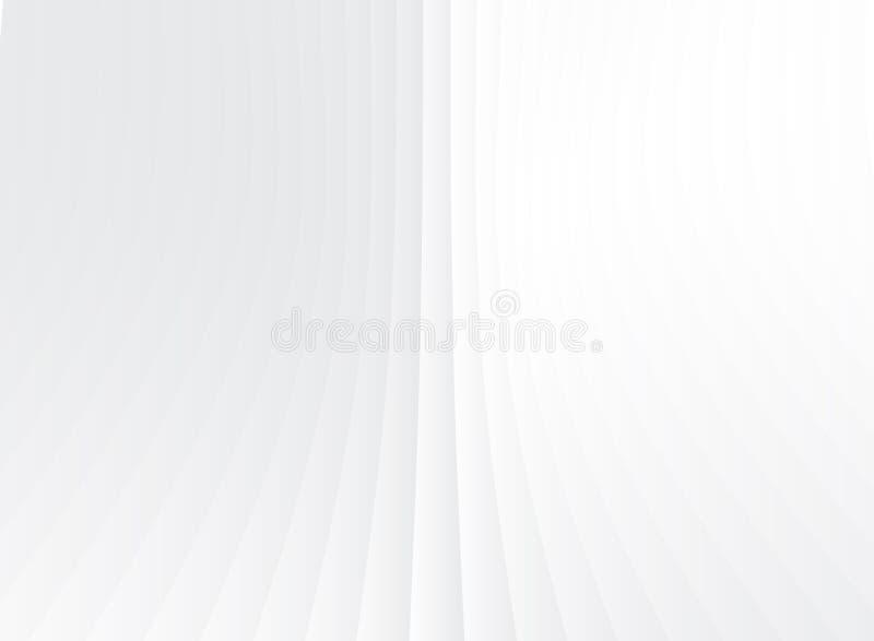 Lignes verticales de perspective géométrique abstraite blanches et gra gris illustration de vecteur