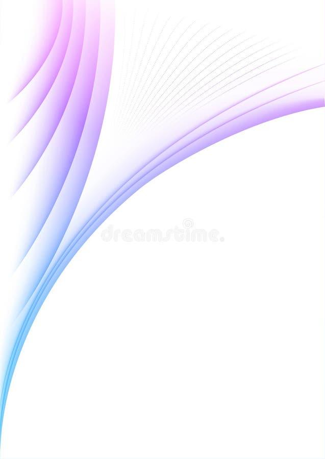 Lignes violettes onduleuses sur le papier photographie stock libre de droits