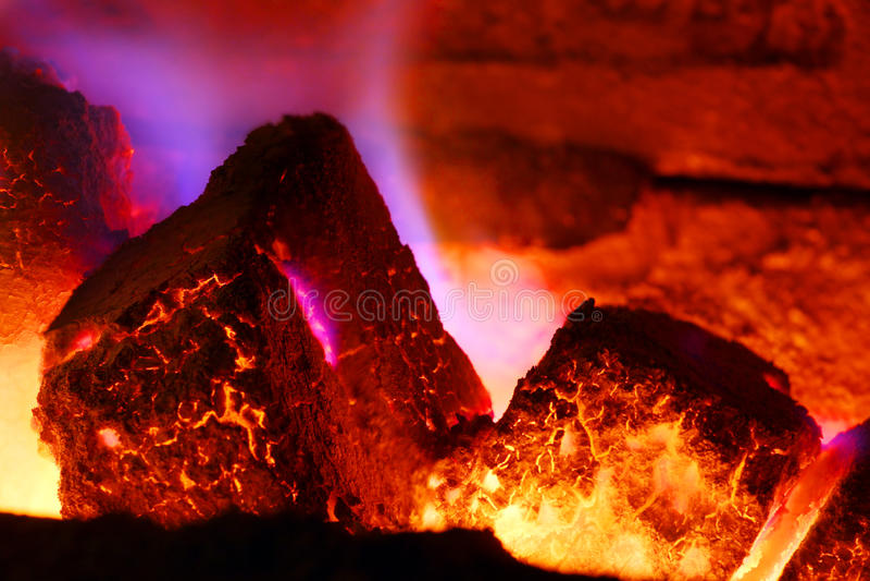 Lignite Burning fotografie stock libere da diritti