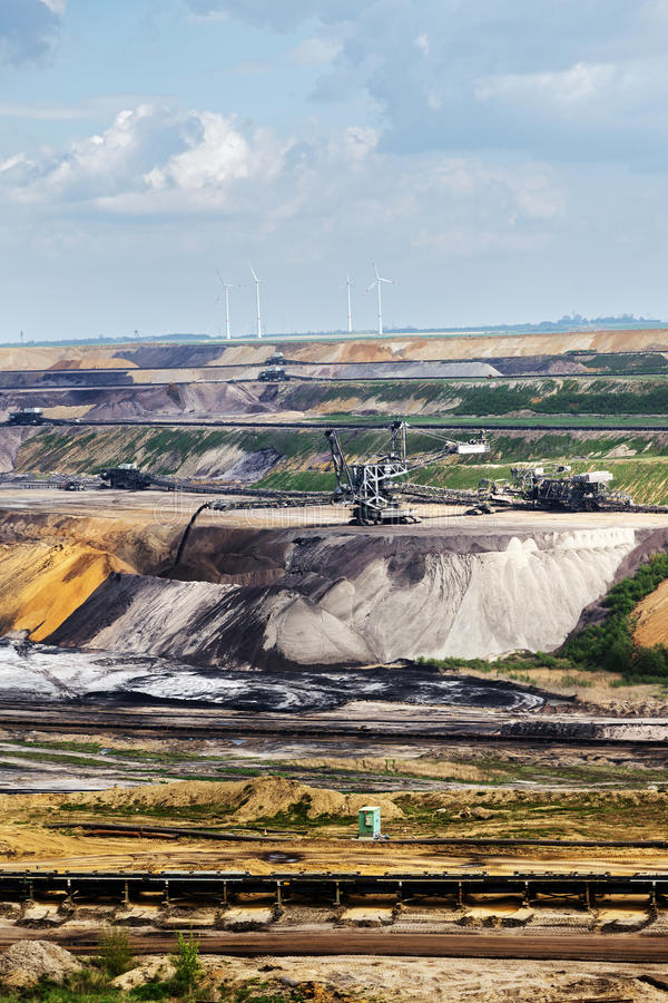 Lignite da mineração opencast de Garzweiler, Alemanha foto de stock royalty free