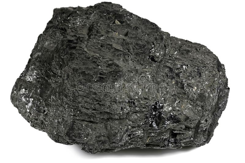 Lignite. From Bergheim/ Germany isolated on white background royalty free stock photography