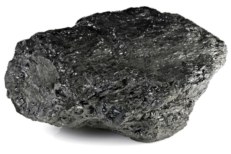 Lignite. From Bergheim/ Germany isolated on white background royalty free stock image