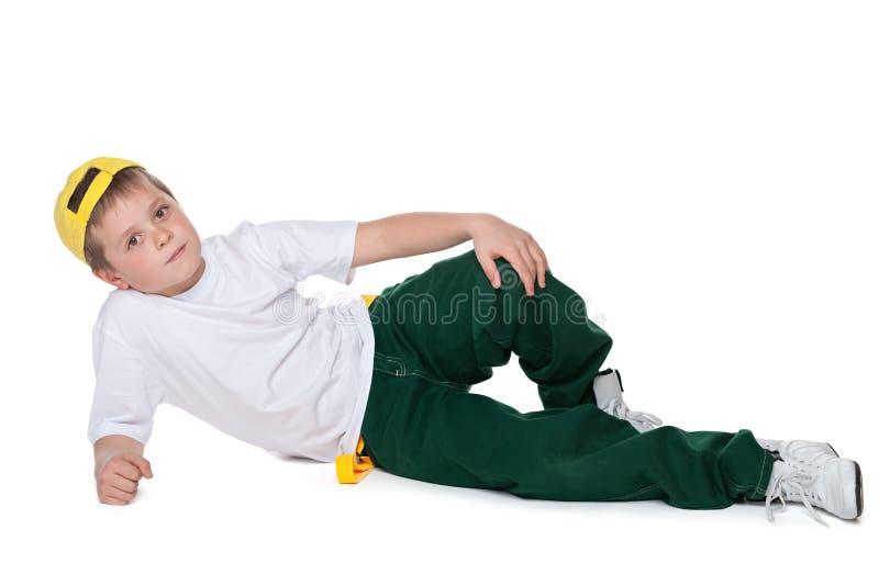 Ligt de manier knappe jonge jongen op het wit royalty-vrije stock foto's