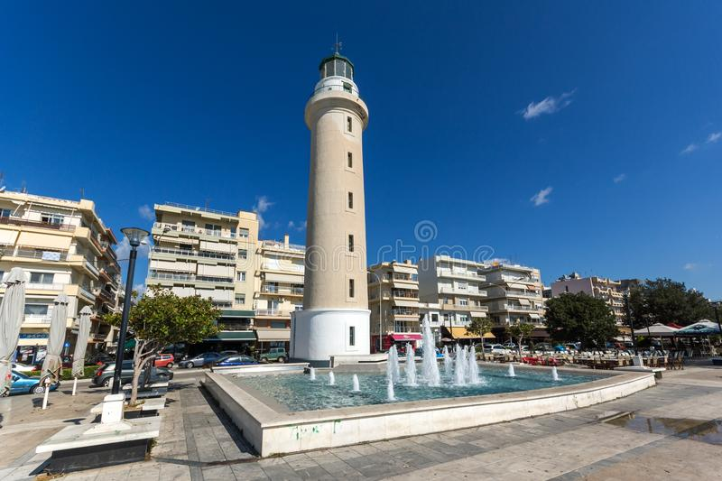 Ligthouse in town of Alexandroupoli, East Macedonia and Thrace, Greece. ALEXANDROUPOLI, GREECE - SEPTEMBER 23, 2017: Ligthouse in town of Alexandroupoli, East stock photo
