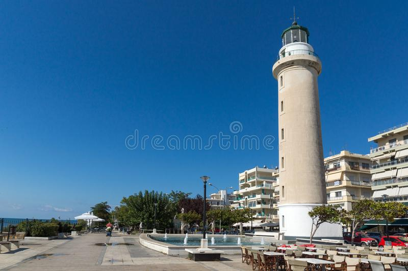 Ligthouse in town of Alexandroupoli, East Macedonia and Thrace, Greece. ALEXANDROUPOLI, GREECE - SEPTEMBER 23, 2017: Ligthouse in town of Alexandroupoli, East stock images