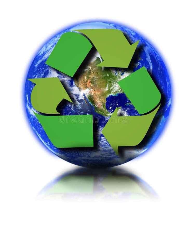 Ligue à terra e recicl o símbolo ilustração royalty free