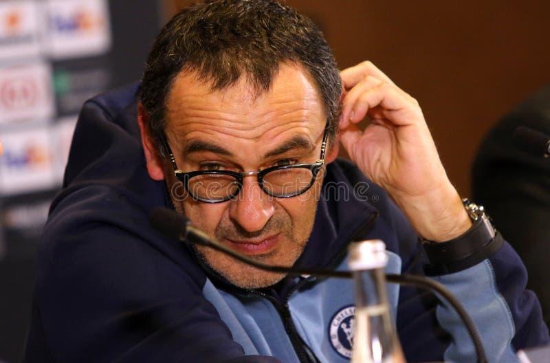 Ligue d'Europa de l'UEFA Dynamo Kiev v Chelsea Presse-conférence image stock