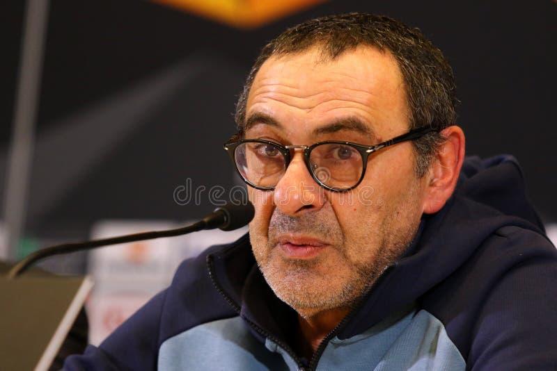 Ligue d'Europa de l'UEFA Dynamo Kiev v Chelsea Presse-conférence photo libre de droits