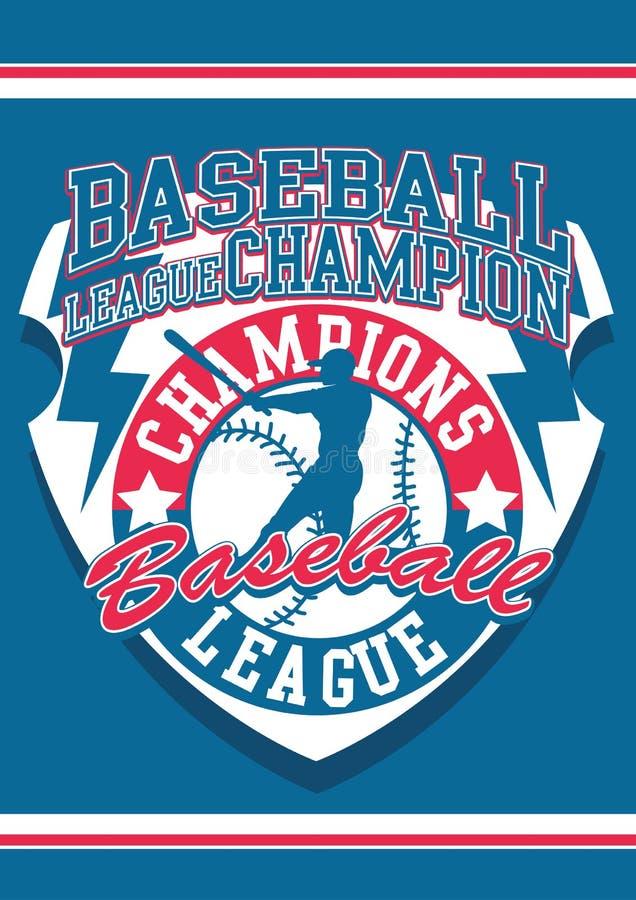 Ligue de base-ball illustration libre de droits